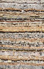 Texture de mur en mosaïque de pierre