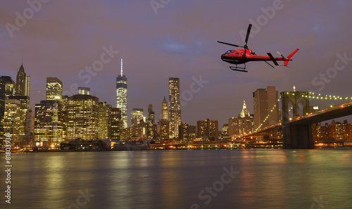 Foto op Canvas Helicopter Tour over Manhattan