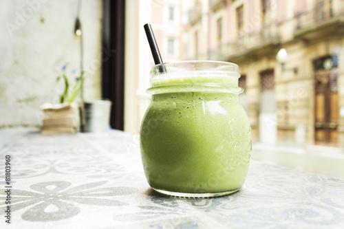 Leinwandbild Motiv Batido verde detox