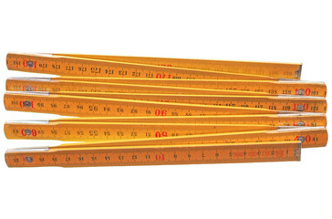 Imperial and metric ruler isolated isolated