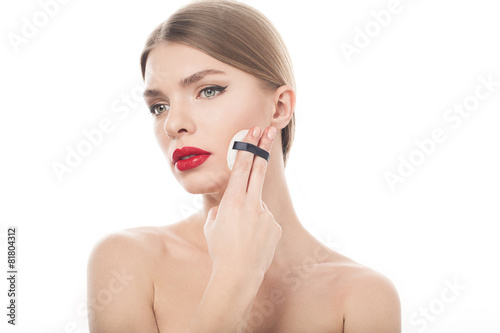 closeup portrait of a beautiful woman with beauty face and clean © Fresh Stock