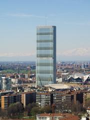 Milan aerial view