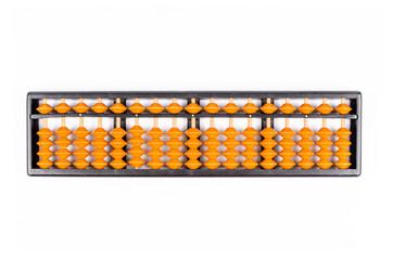 vintage abacus isolated on white background