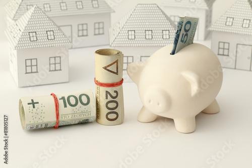 Zakup domu, mieszania, pieniądze