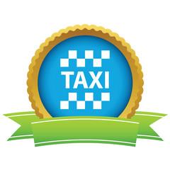 Gold taxi logo