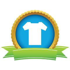 Gold tee shirt logo