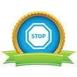 Gold stop logo