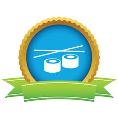 Gold sushi logo