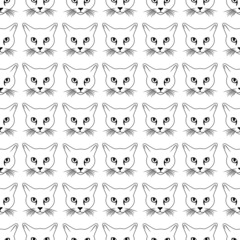 Cat face seamless pattern
