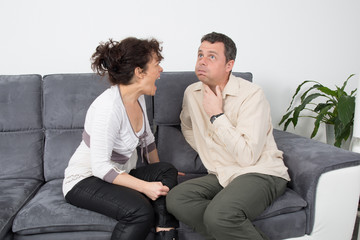 Wife screaming at her husband