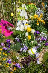 Décoration et marché de Pâques