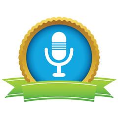 Gold microphone logo