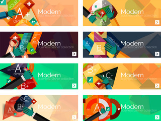 Modern flat design infographic banners