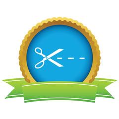 Gold cut logo