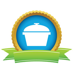 Gold pan logo