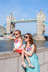Mother and daughter in London