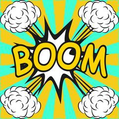 BOOM ! Comic speech bubbles in pop art style