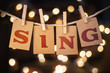 Sing Concept Clipped Cards and Lights - 81808704