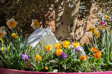 Décoration de Pâques au jardin
