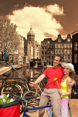 Couple Taking Selfie in Amsterdam, Holland