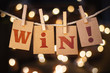 Win Concept Clipped Cards and Lights - 81809182