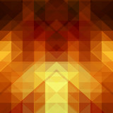 Naklejka Gold abstract background from triangle shapes