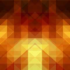 Gold abstract background from triangle shapes
