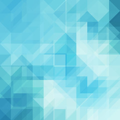 Blue background from triangle shapes
