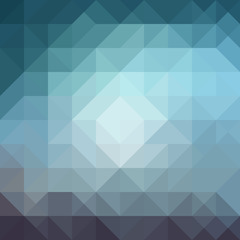 Abstract background from triangle shapes in blue colors