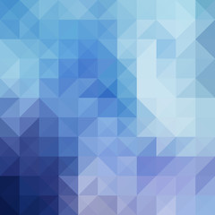 Blue abstract background from triangle shapes