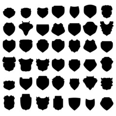 Silhouettes of Shields