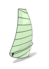 Sailboard isolate on white