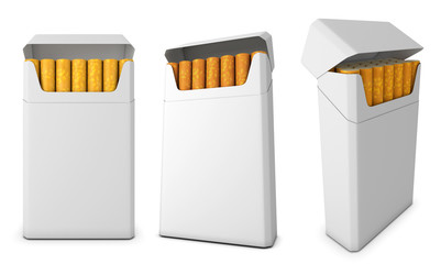 Template pack of cigarettes from different angles
