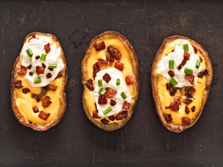 rustic baked potato skin