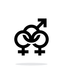 Bisexual icon on white background.