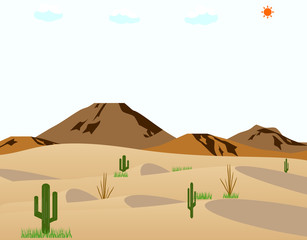 砂漠 サボテン