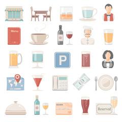 Flat Icons - Restaurant