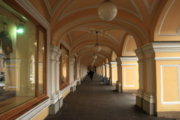Shopping arcade in St-Petersburg