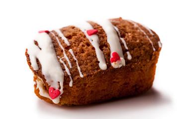 fresh vanilla muffin closeup