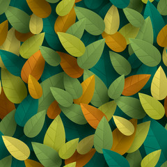 Leaves background - seamless