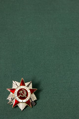 Order of the Patriotic War on a green background