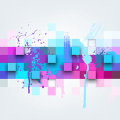 Vector background. Illustration of abstract texture with squares