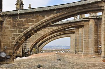 Arbotantes de la catedral de Sevilla, Andalucía, España, gótico