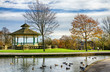 Bandstand and duck pond in Greenhead park, Huddersfield - 81813170