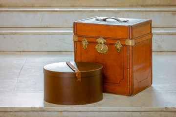 Old travelling suitcases