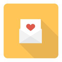 Love letter. Vector Illustration.