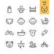 Baby icons set. Vector illustration. - 81815143