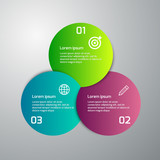 Vector illustration infographics 3 colored circles