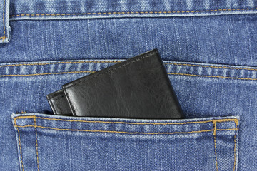 wallet in jeans pocket