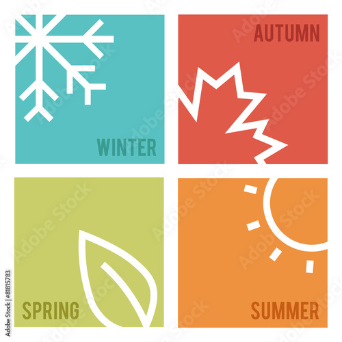 Season icons.Vector illustration. - 81815783